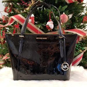 NWT Michael Kors Ciara Tote Patent Leather. Black